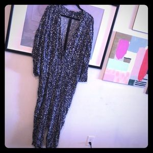 Eloquii Printed Wrap Jumpsuit with Pockets